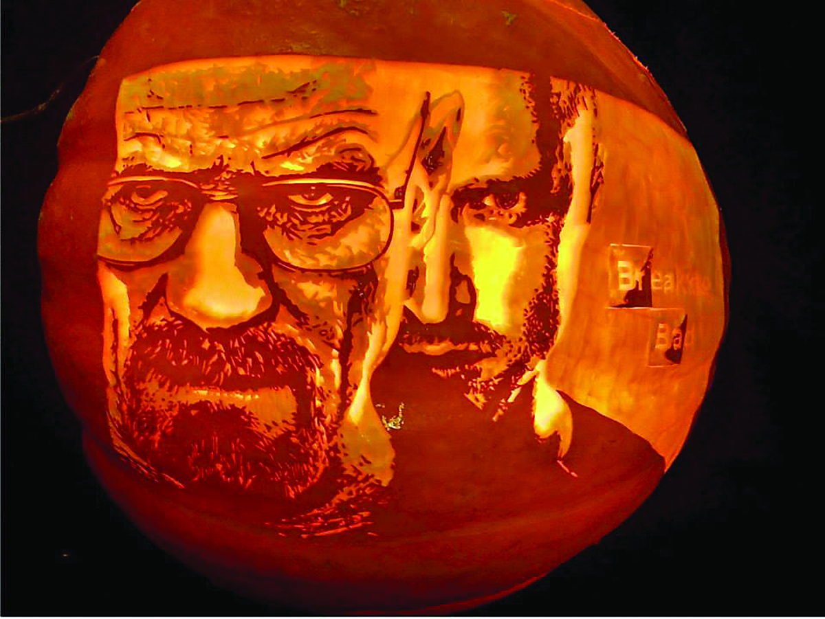 Swanton resident is an artist with jack o lanterns the
