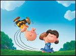 Charlie Brown and Lucy play in the new film,