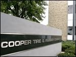 The headquarters of the Cooper Tire & Rubber Company is seen in Findlay, Ohio on September 17, 2004.  Cooper Tire & Rubber Co. agreed to sell its automotive parts business for $1.17 billion and plans to spend some of the proceeds to build a tire factory in China.  Photographer:  Jay LaPrete/ Bloomberg News.