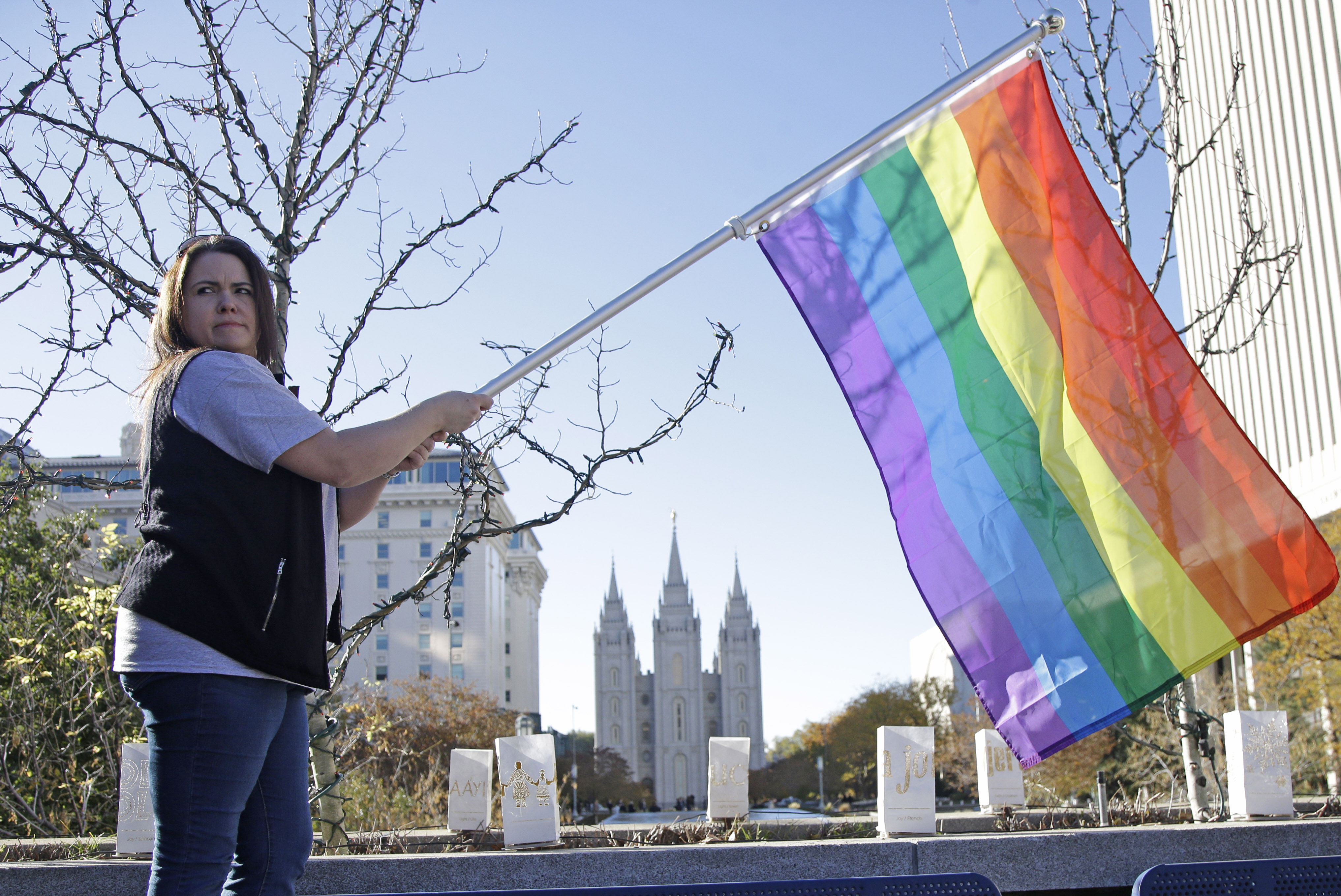 protest of mormon lgbt policy draws hundreds the blade salt