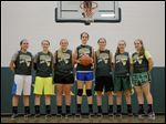 Evergreen is the favorite top win the NWOAL title with top players, from left, Hannah Herr, Alyssa Noe, Haili Mossing, Kaela Fauble, Eden Eisel, Rachael Noe, and Becca Jancowiak. The Vikings were 16-9 last season.