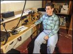 Ben Murray does amateur radio. He has lost some jobs because of his limited sight. He was born with optic atrophy, which means his optic nerves did not fully develop.