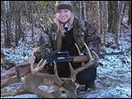 Morgan Wilson, a 17-year-old junior at Napoleon High, killed a 10-point buck that weighed about 225-250 pounds while on private land Sunday near Gibsonburg.