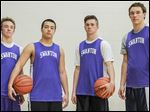 Swanton shared the NWOAL championship last season and looks to win it again with, from left, Robbie Gilsdorf,  Antonio Cervantes, Bryce McComb, and Gunnar Oakes.