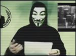 A screen grab from a video on YouTube shows a masked representative of Anonymous declaring that the hacking collective would carry out cyber attacks on the Islamic State after the terror group staged deadly attacks in Paris.