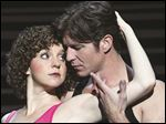 Gillian Abbott as Baby and Christopher Tierney as Johnny Castle in 'Dirty Dancing: The Classic Story on Stage.'