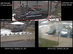 This combination of still images taken from a surveillance video and released Saturday by the Cuyahoga County Prosecutor's Office shows Cleveland police officers arriving at Cudell Park on a report of a man with a gun. Twelve-year-old Tamir Rice was fatally shot by Cleveland police officer Timothy Loehmann on Nov. 22, 2014, after he reportedly pulled a replica gun at the city park.