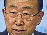 United Nations Secretary-General Ban Ki-moon speaks during a news conference following a Security Council meeting on Syria, Wednesday, July 29, 2015, at U.N. headquarters.