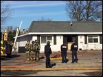 Toledo firefighters on the scene of a fire A.J.'s Hair and Nail at 3410 West Laskey Road.