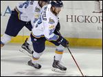 Alden Hirschfeld, formerly of the Toledo Walleye, spent a night in the hospital after suffering a seizure while playing for the Grand Rapids Griffins.