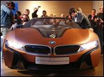 BMW i Vision Future concept car, shown at the CES gadget show in Las Vegas, can control home devices.