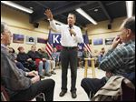 Republican presidential candidate Ohio Gov. John Kasich speaks at a campaign stop in Conway, N.H., a day after the sixth GOP presidential debate. Political experts says Mr. Kasich was steady but did not advance much in Thursday's debate.