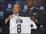 Detroit Tigers general manager Al Avila introduces outfielder Justin Upton, who has surpassed 25 home runs in five of the last seven seasons.