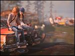 A screen shot from 'Life is Strange,' an atmospheric tale set in the Pacific Northwest.