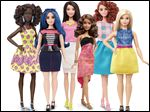 A new group of Barbie dolls by Mattel.