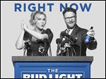 Amy Schumer and Seth Rogen will appear in Anheuser-Busch's Bud Light television ad for Super Bowl 50 on Feb. 7.