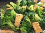 Pad broccoli with tofu from Thai Basil.