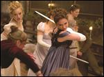 Lily James in a scene from Pride and Prejudice and Zombies.'