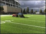 Maumee Bay Turf Center/​UBU Sports, a suburban Toledo company that specializes in artificial turf, installed the synthetic turf for a practice field just outside Levi's Stadium in Santa Clara, Calif., site of Super Bowl 50.
