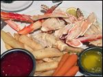 King crab legs from Sage Steak and Seafood.