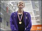 Morgan Waggoner of Fremont Ross won district championships in the 50-yard freestyle and 100 free.