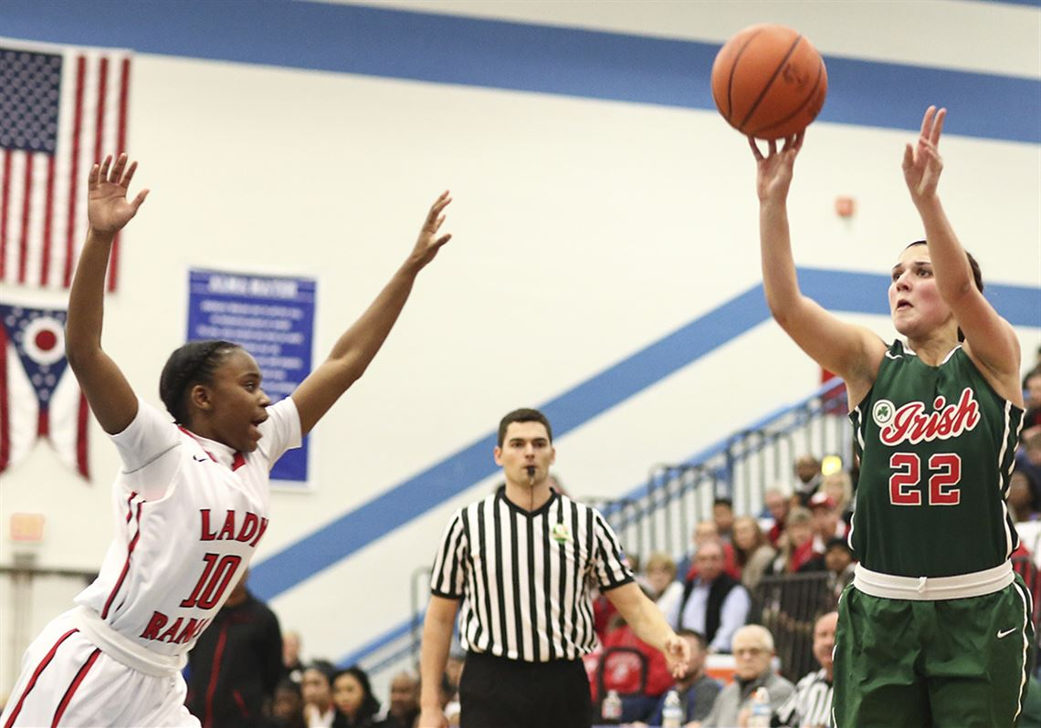 Central Catholic's Byrdy Galernik (22) has been named Division II girls  player of the