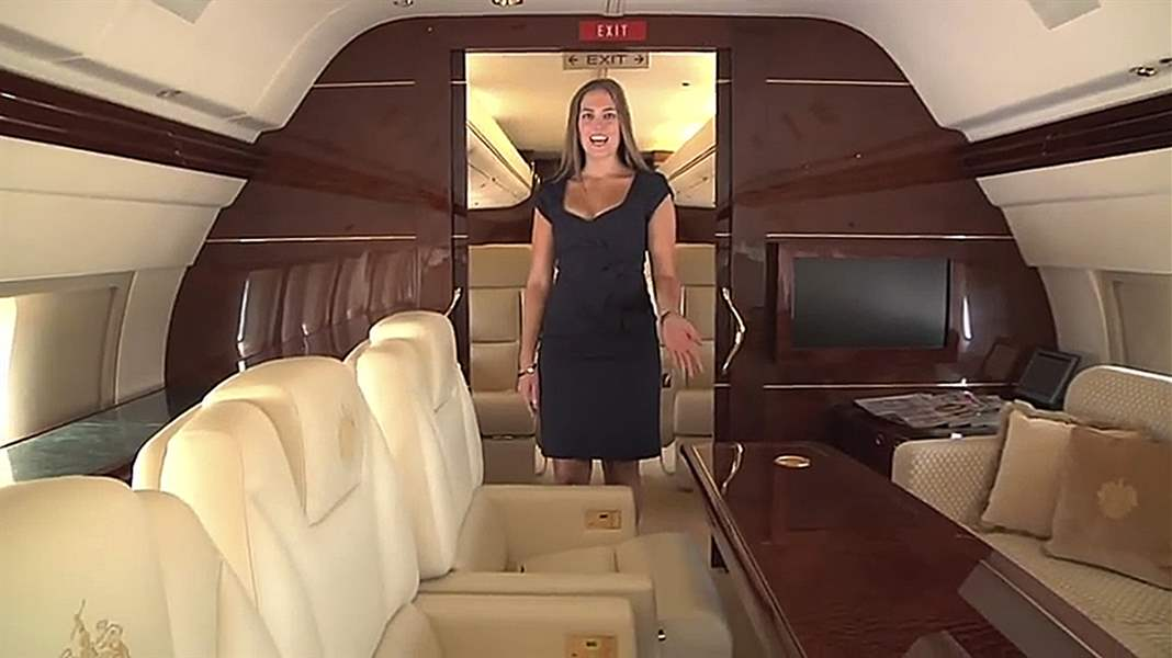 of Donald Trump's $100 million personalized Boeing 757. Mr. Trump ...