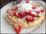 Strawberry Coconut Waffle from Sunrise Skillet on Reynolds Road.