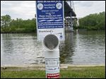 There are 16 Fishing Line Recycling Bins located at spots along the Maumee River, including this one under the Anthony Wayne Bridge at International Park. The bins are set up to help keep snarled line out of the environment.