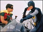 Batman and Robin in a scene from the television series.