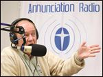 Deacon Mike Learned and his wife, Kris (pictured below), broadcast their radio show, 'Annunciation Radio Presents,' from the Annunciation Radio studio in South Toledo. The show is broadcast from 8 to 9 a.m. Fridays.