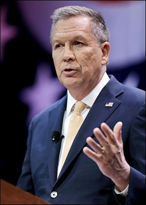Gov. John Kasich spoke on many topics, including the tax cuts made under his time in office and his plans to accelerate new ones.