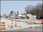 Construction is ongoing along the Anthony Wayne Trail near South Avenue in Toledo.