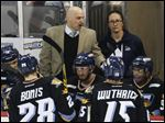 Toledo Walleye head coach Derek Lalonde and his team resume their first round playoff series Tuesday evening in Reading.