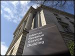 The exterior of the Internal Revenue Service building in Washington. The IRS says the average refund so far this year is $2,798, up ever so slightly from last year.
