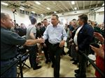 Ohio Gov. John Kasich greets audience members after a town hall in Media, Pa., on Thursday. He has been campaigning in Pennsylvania and four other states that will vote Tuesday.