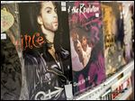 Prince albums were for sale and on display during the Glass City Records Show at the Knights of Columbus Hall on Sunday.
