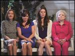From left are Wendie Malick, Valerie Bertinelli, Jane Leeves, and Betty White in a scene from the television series 'Hot in Cleveland.'