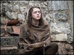 Maisie Williams as Arya Stark in a scene from,