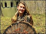 Hannah Wolff, 15, a sophomore at Anthony Wayne High School, bagged a 24¼ pound tom. It might be one of the largest ever harvested in Ohio by a female hunter.