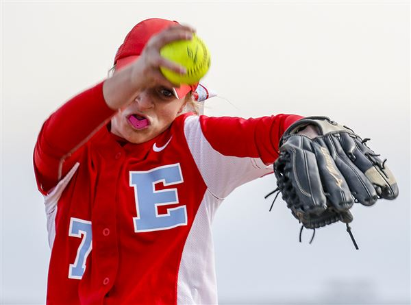Prep softball: Erickson strikes out 16 as Knights shut out Barbs
