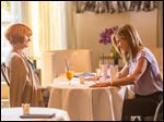 Julia Roberts, left, and Jennifer Aniston in a scene from
