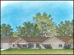 A rendering shows a group home to be built by Sunshine Communities on Olimphia Road in West Toledo. The home will have eight bedrooms for people with developmental disabilities.
