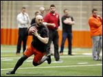 Former Bowling Green State University quarterback Matt Johnson didn't hear his name called during the draft but later signed with Cincinnati.