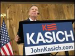 Ohio Gov. John Kasich pauses as he speaks at The Franklin Park Conservatory and Botanical Gardens on Wednesday in Columbus. Mr. Kasich suspended his campaign for the Republican nomination for president.
