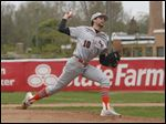 Southview's Patrick Theiss pitches the ball during a Division I sectional against Anthony Wayne.