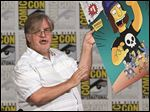 Matt Groening, creator of 'The Simpsons,' unveils the cover of the 'Jimbo Jones #1' issue of Bongo Comics' 'Simpsons Comics One-Shot Wonders' during Comic-Con International 2015 at the San Diego Convention Center.