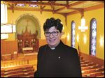 Bishop Elizabeth Eaton, presiding bishop of the Evangelical Lutheran Church in North America, at St. Paul's Lutheran Church in Toledo.