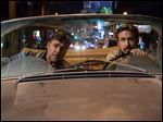 Russell Crowe, left, and Ryan Gosling in a scene from