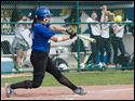 Anthony Wayne's Sam Haas hits a home run against Amherst Steele during the fourth inning of a Division I softball regional semifinal.